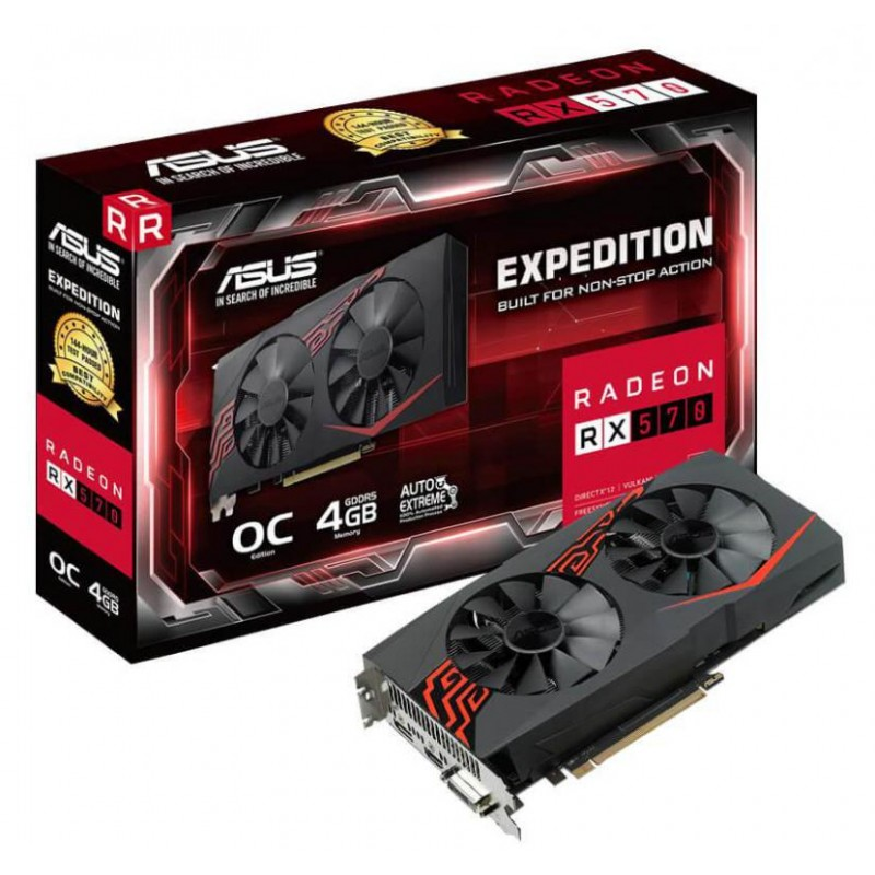 PLACA GRAFICA ASUS RADEON RX 570 4GB EXPEDITION
