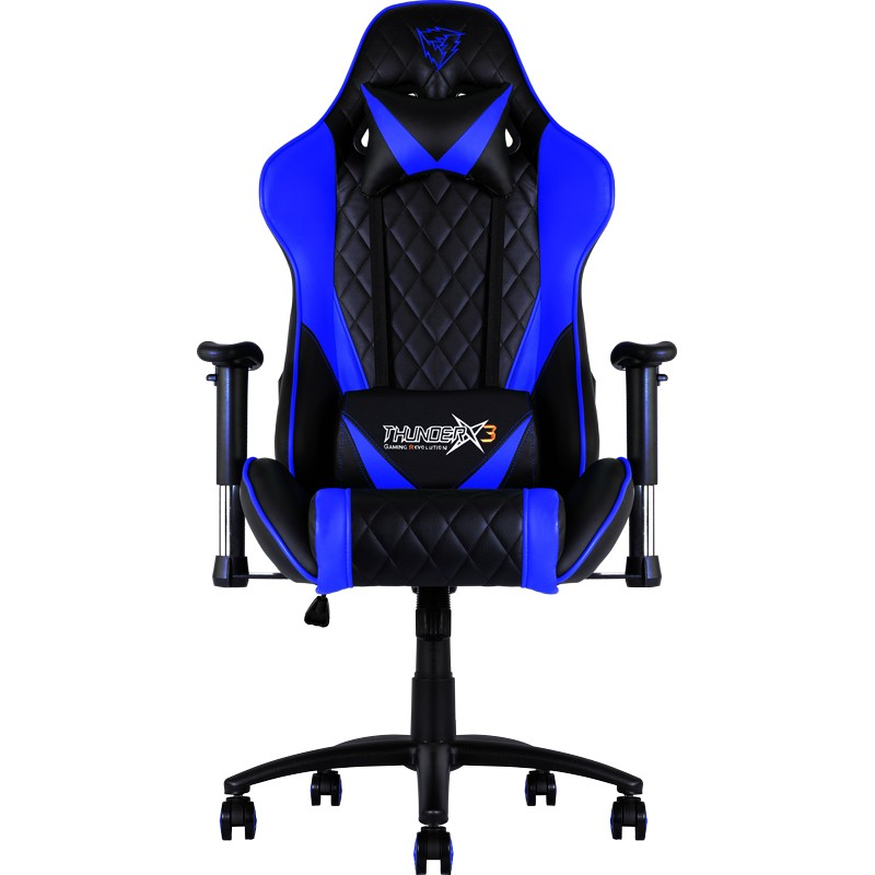 Cadeira THUNDERX3 Profissional, Back+Neck cushion, Black/Blue - TGC15BB