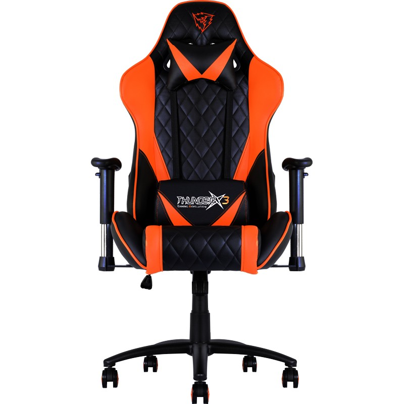 Cadeira THUNDERX3 Profissional, Back+Neck cushion, Black/Orange - TGC15BO