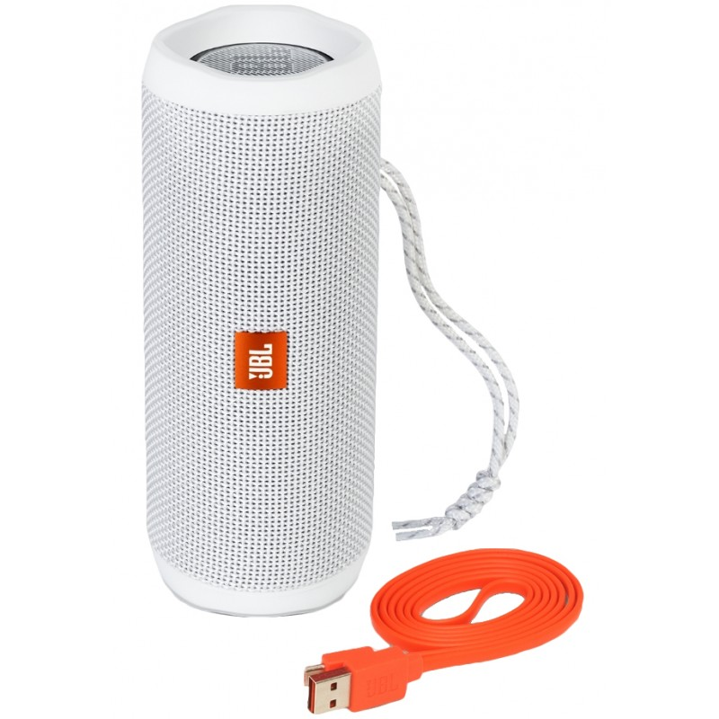 Coluna Portátil JBL FLIP 4 Waterproof Bluetooth 2x8W c/ Microfone 12h Branco
