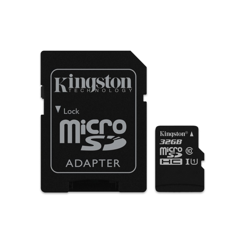 Cartao Micro SDHC 32GB Canvas Select 80R CL10 UHS-I Card + SD Adapter