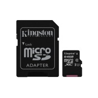 Cartao Micro SDXC 64GB Canvas Select 80R CL10 UHS-I Card + SD Adapter