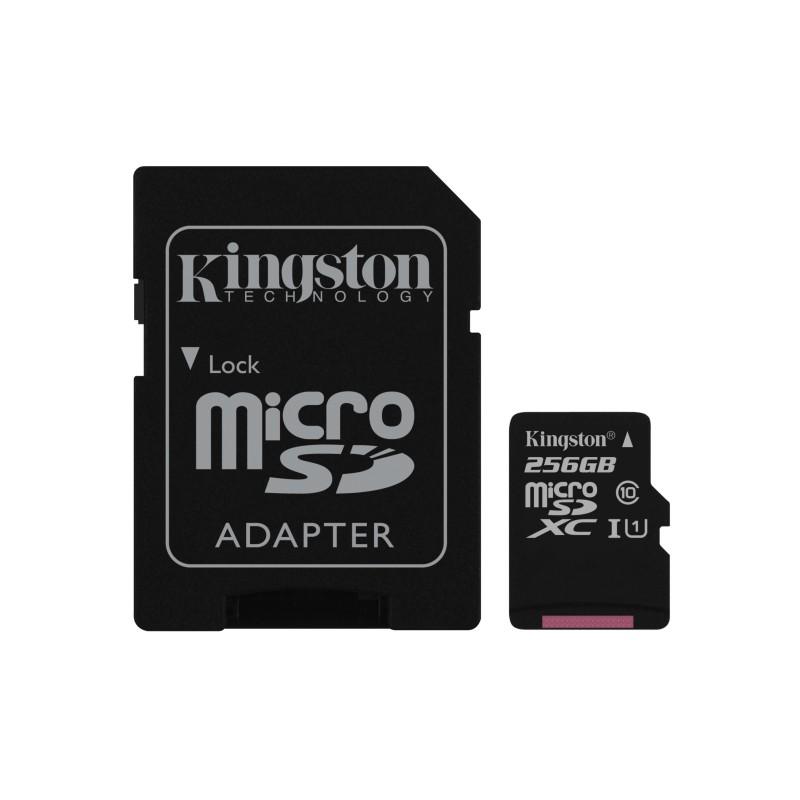 CARTÃO DE MEMÓRIA KINGSTON CANVAS SELECT MICRO SDXC 256GB CLASSE 10 UHS-I U1 C/ ADAPTADOR