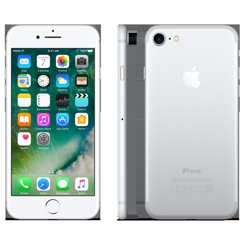 Smartphone Apple iPhone 7 32GB Silver Livre (Grade A+ Usado)