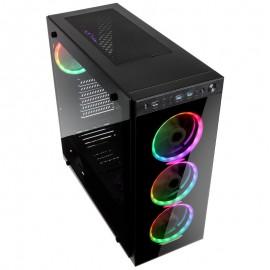 Caixa ATX Kolink Horizon RGB Preto Vidro Temperado