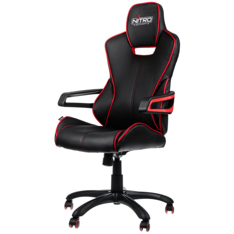 Cadeira NITRO Concepts E200 Race Gaming Preto/Vermelho