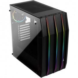 Caixa Aerocool Klaw RGB Vidro Temperado USB 3.0 Preta